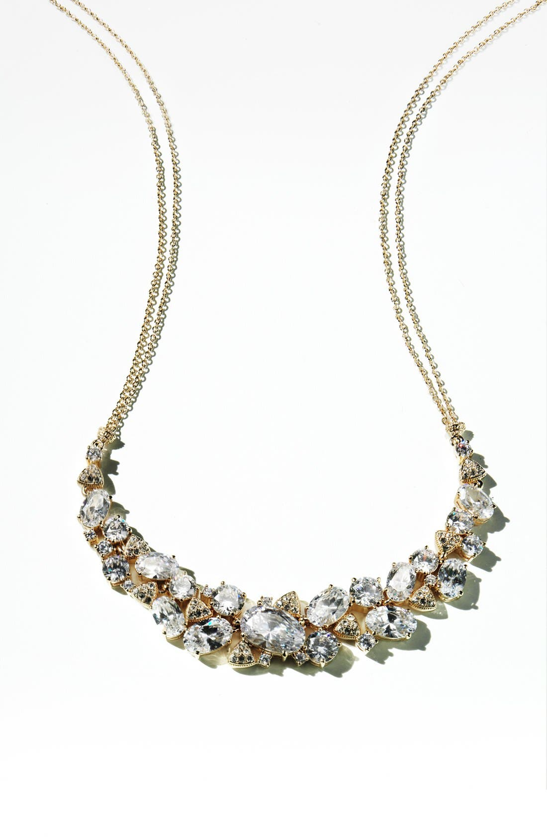 Alternate Image 3  - Nadri Cubic Zirconia Cluster Frontal Necklace (Nordstrom Exclusive)