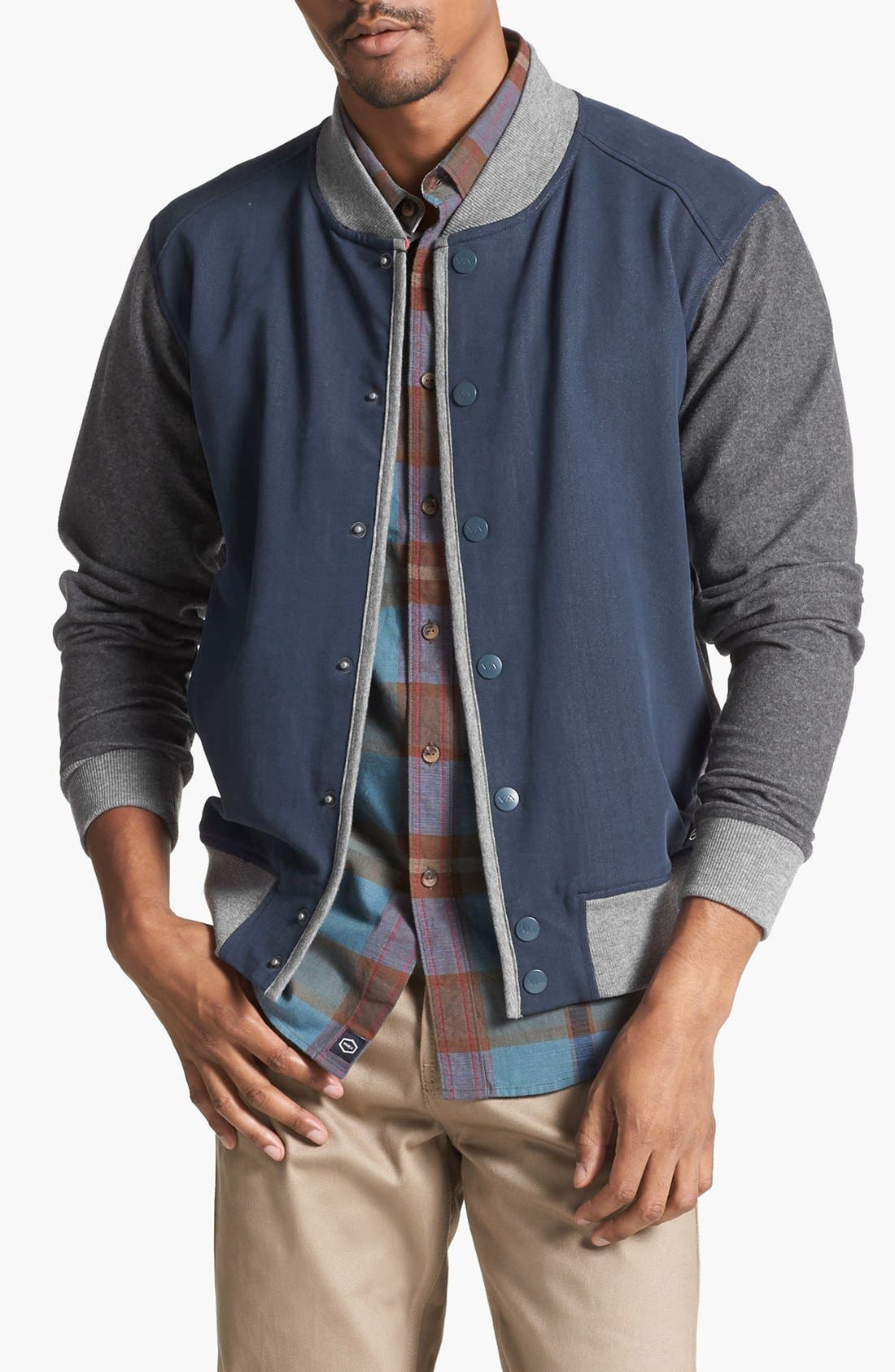 Alternate Image 1 Selected - RVCA 'Hatcher' Varsity Jacket