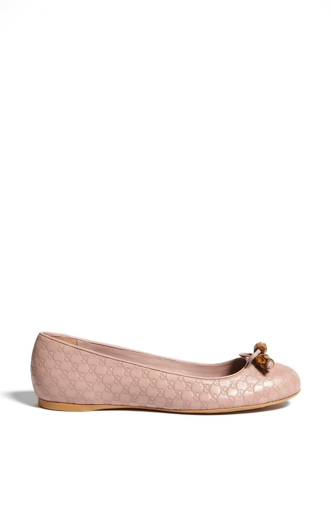 Alternate Image 4  - Gucci 'Sylvie' Bamboo Bow Ballet Flat