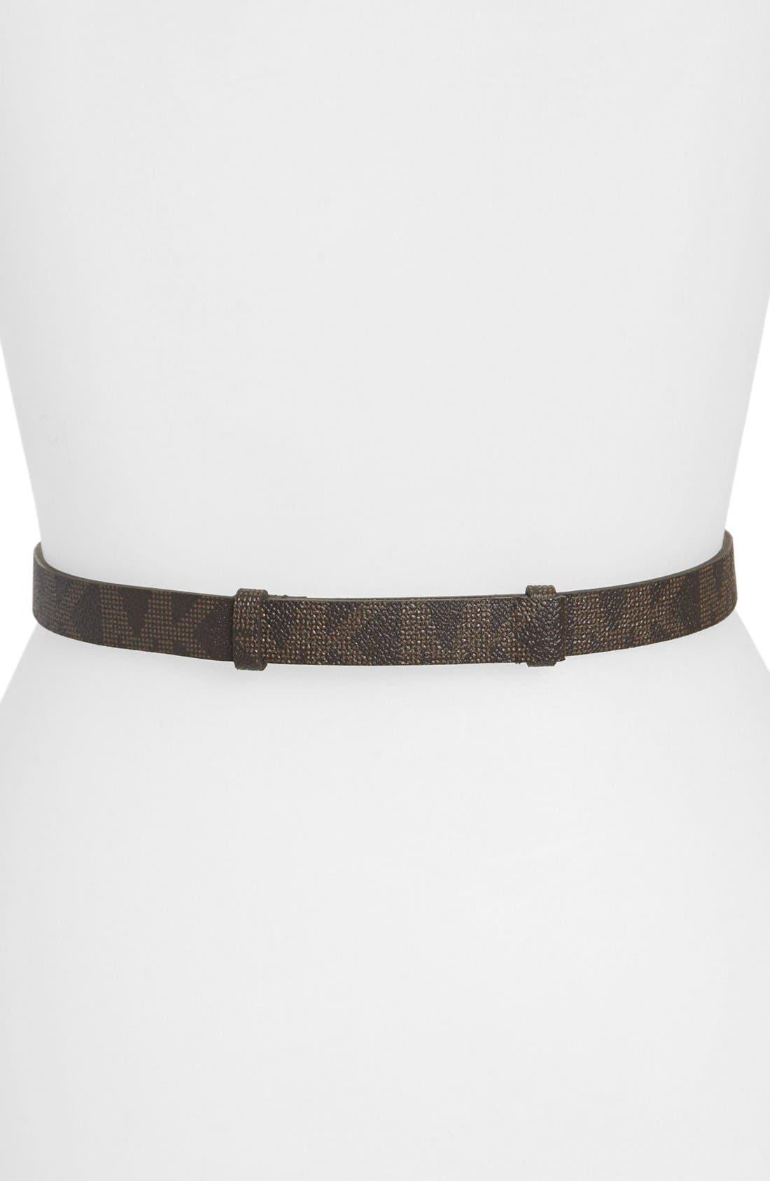 Alternate Image 2  - MICHAEL Michael Kors Interlocking Logo Belt