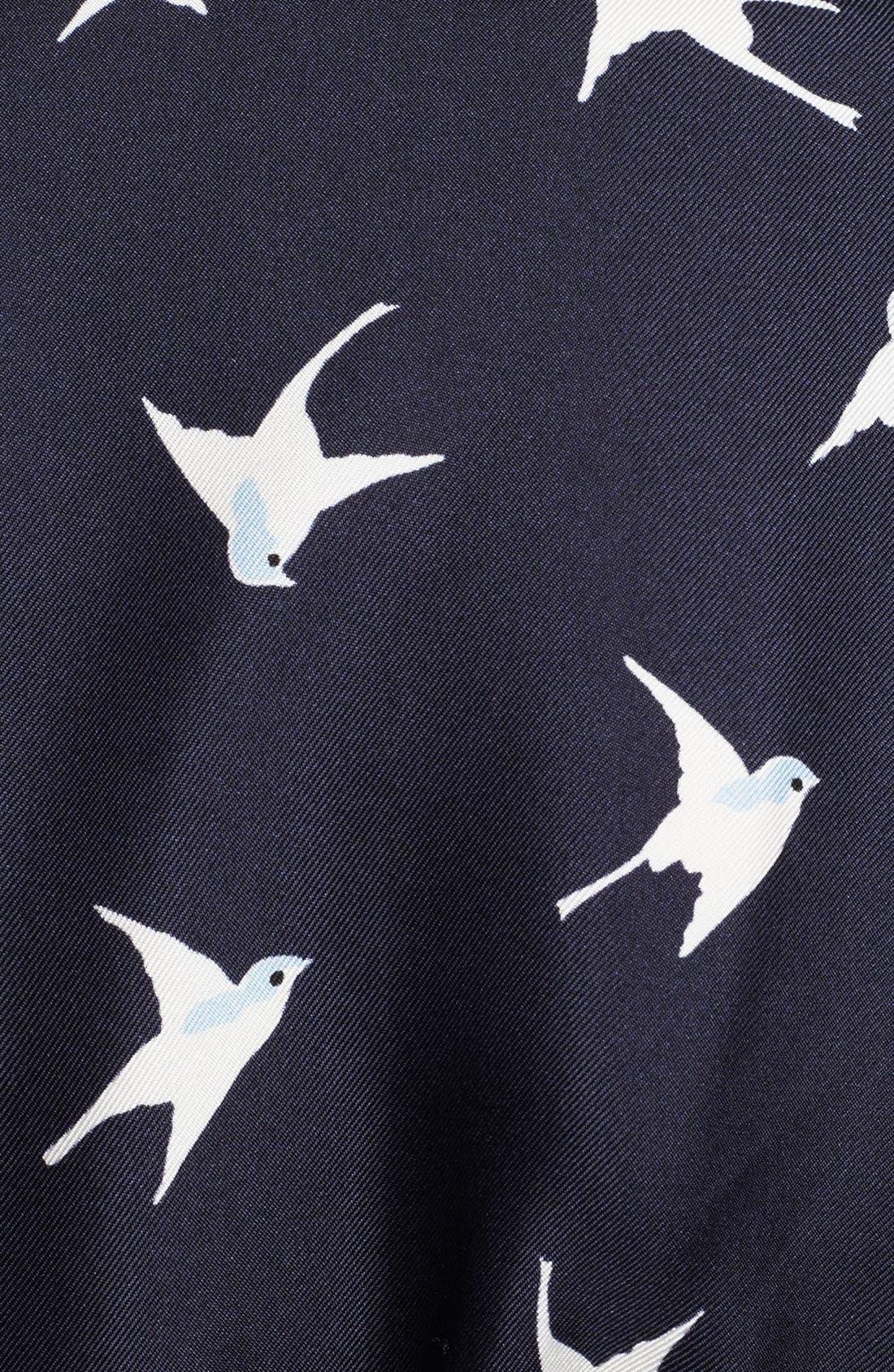 Alternate Image 3  - Nina Ricci Bird Print Silk Shirtdress