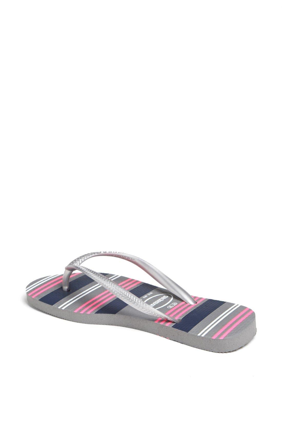 Alternate Image 2  - Havaianas 'Slim - Neon Stripes' Sandal