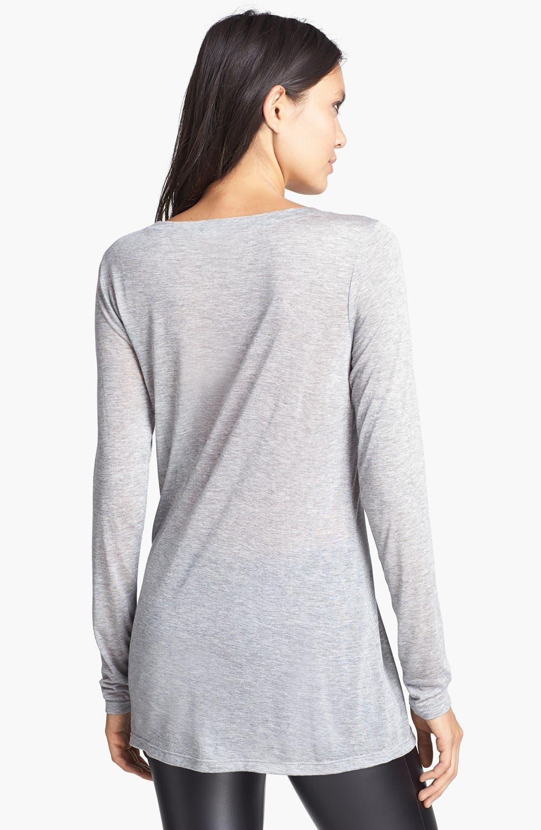 Alternate Image 2  - Leith Long Sleeve Sheer Tunic