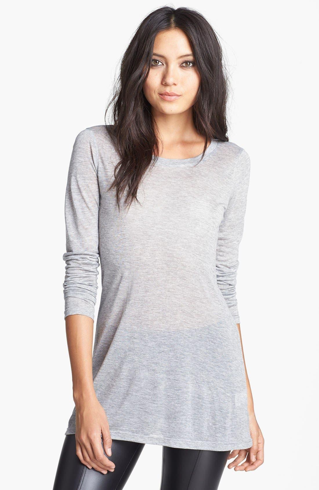 Alternate Image 1 Selected - Leith Long Sleeve Sheer Tunic