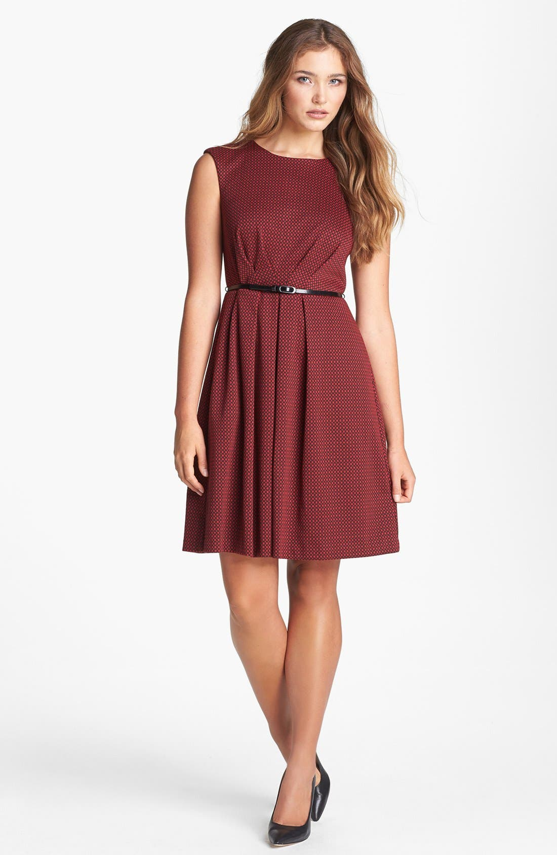 Alternate Image 1 Selected - Maggy London Patterned Fit & Flare Dress