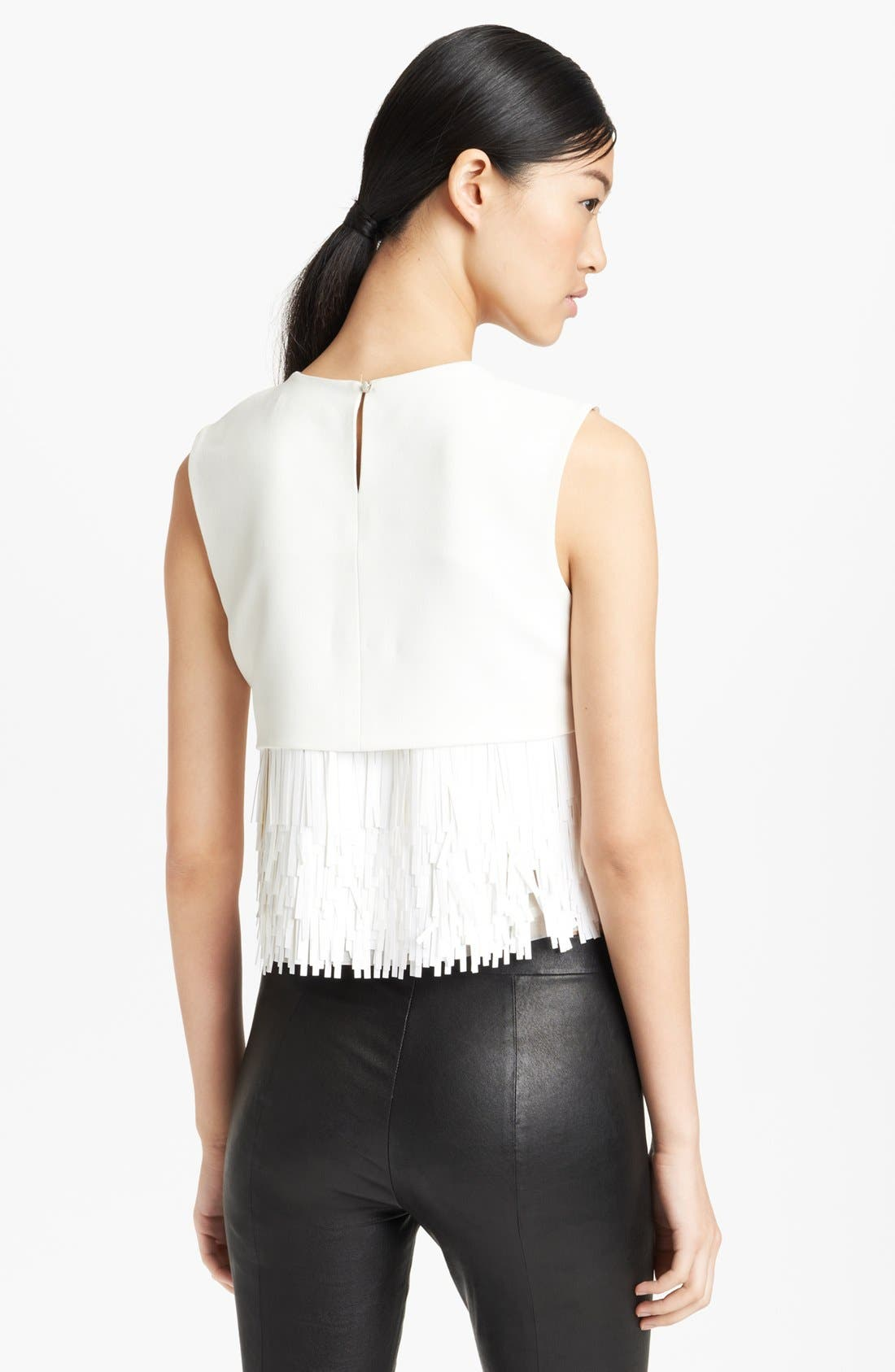 Alternate Image 2  - Jason Wu Fringed Crepe Top
