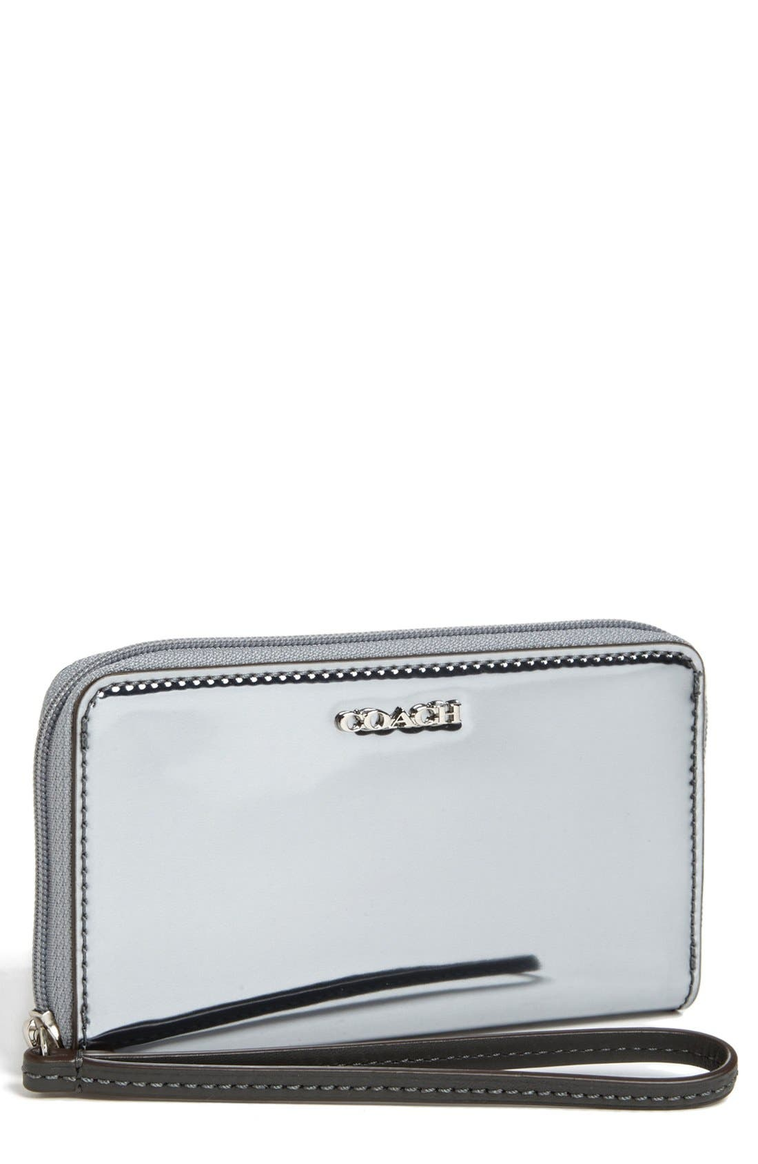 Main Image - COACH 'Legacy - Mirror Metallic' Phone Wristlet