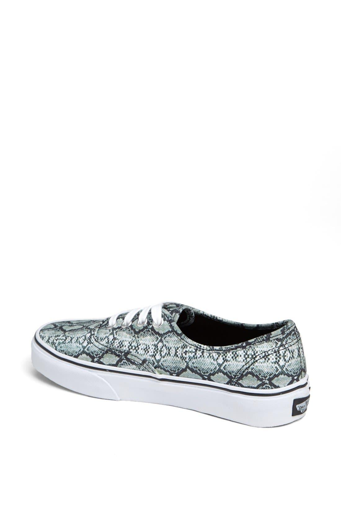 Alternate Image 2  - Vans 'Authentic - Snake Print' Sneaker (Women)