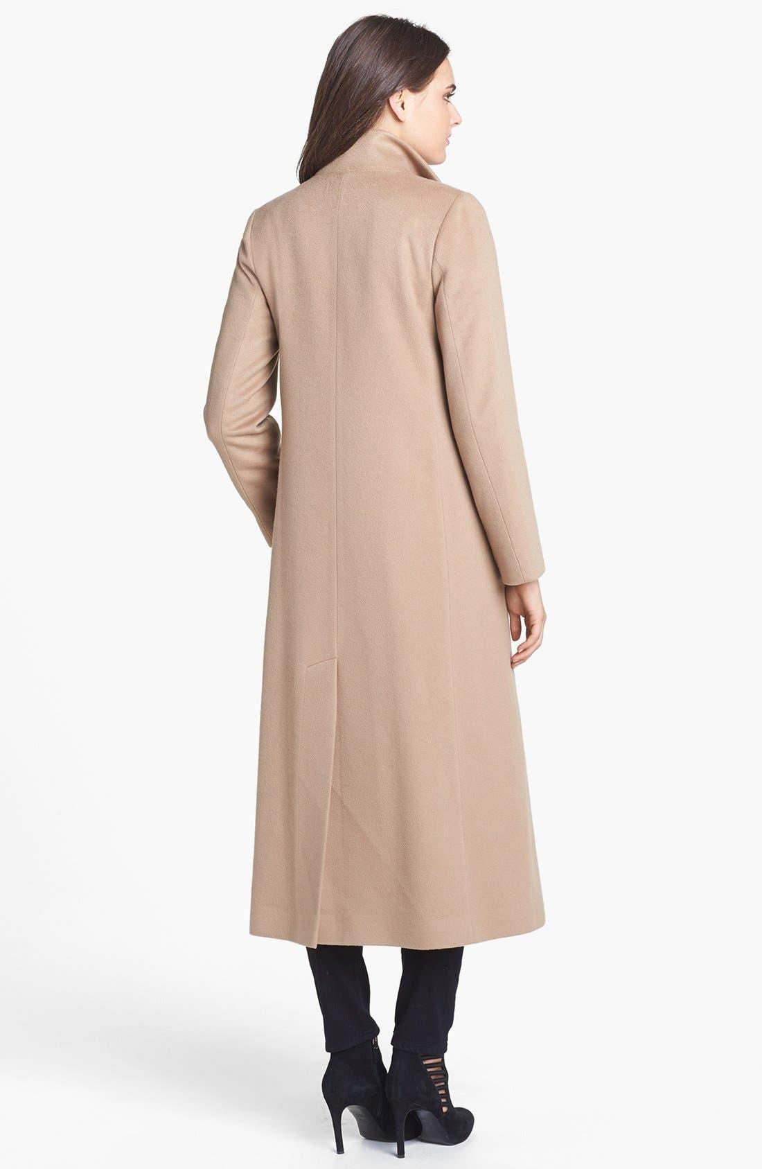Alternate Image 3  - Fleurette Stand Collar Cashmere Coat