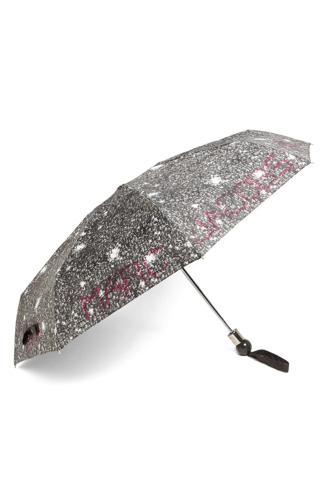 MARC BY MARC JACOBS 'Twilight' Umbrella,                             Main thumbnail 1, color,                             Black Multi
