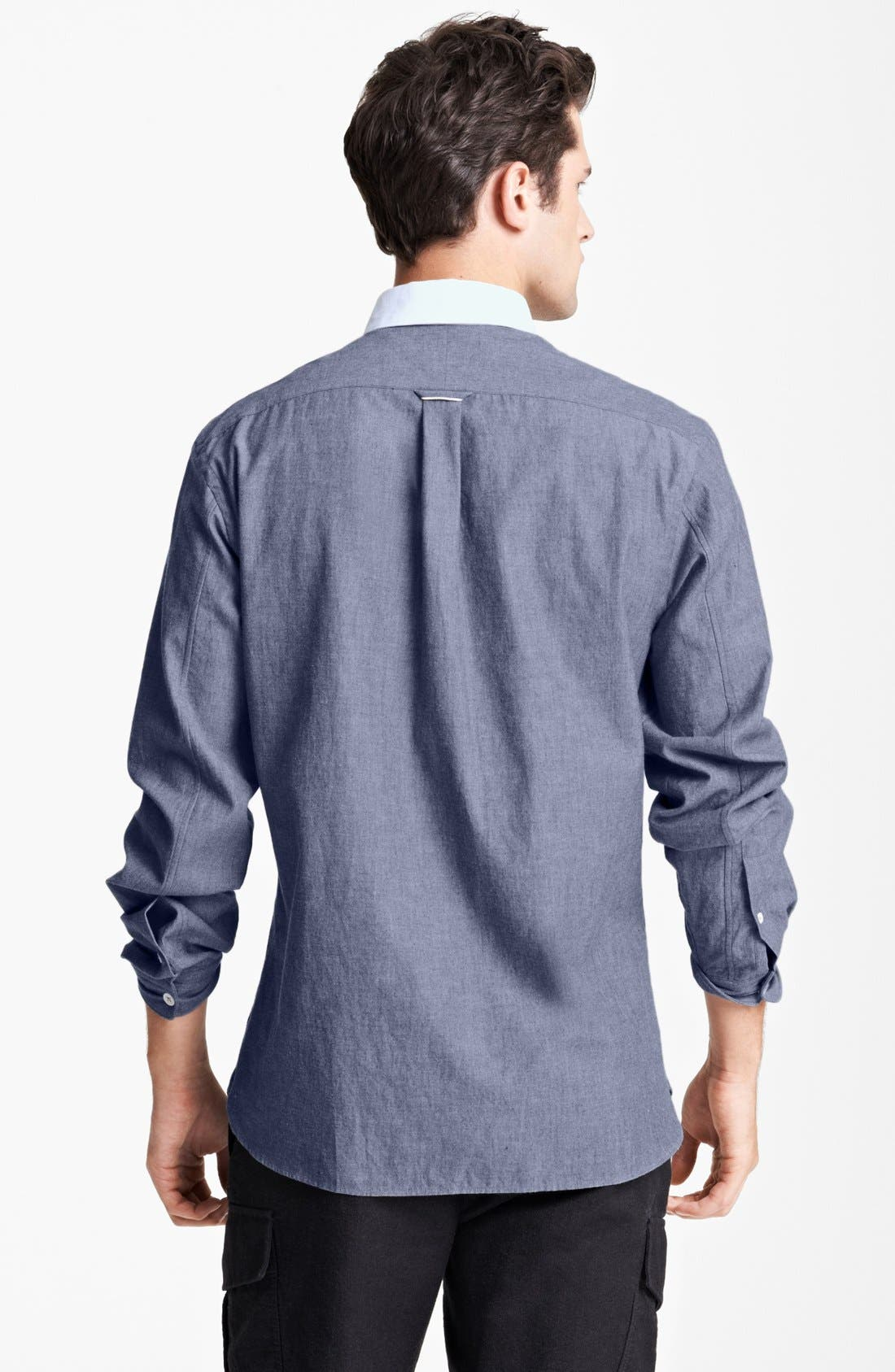 Alternate Image 2  - Todd Snyder Chambray Sport Shirt with Contrast Collar