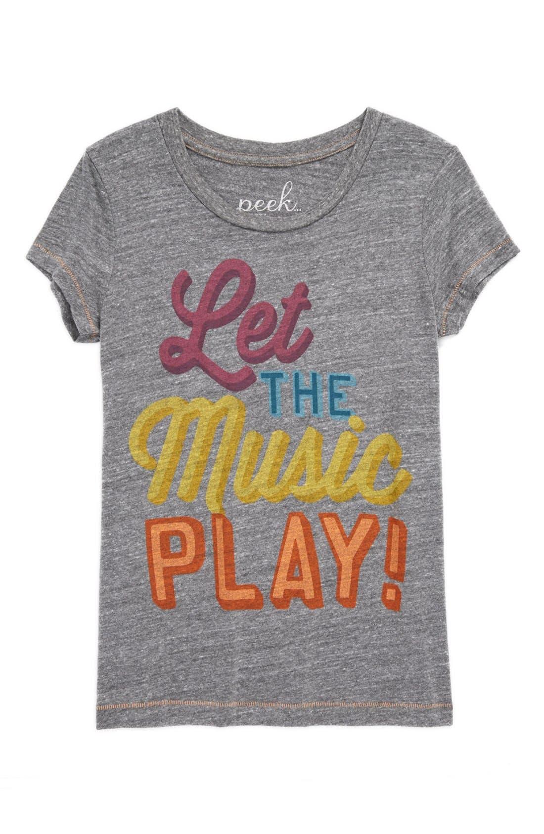 Alternate Image 1 Selected - Peek 'Let the Music Play' Tee (Toddler Girls, Little Girls & Big Girls)