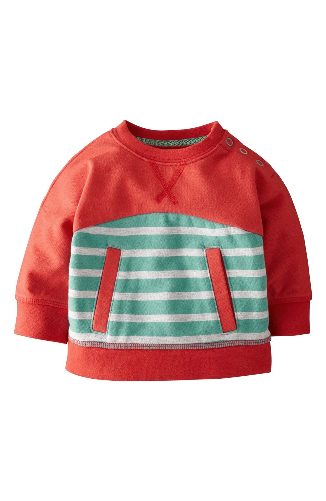 Main Image - Mini Boden 'Hotchpotch' Pullover (Baby Boys)