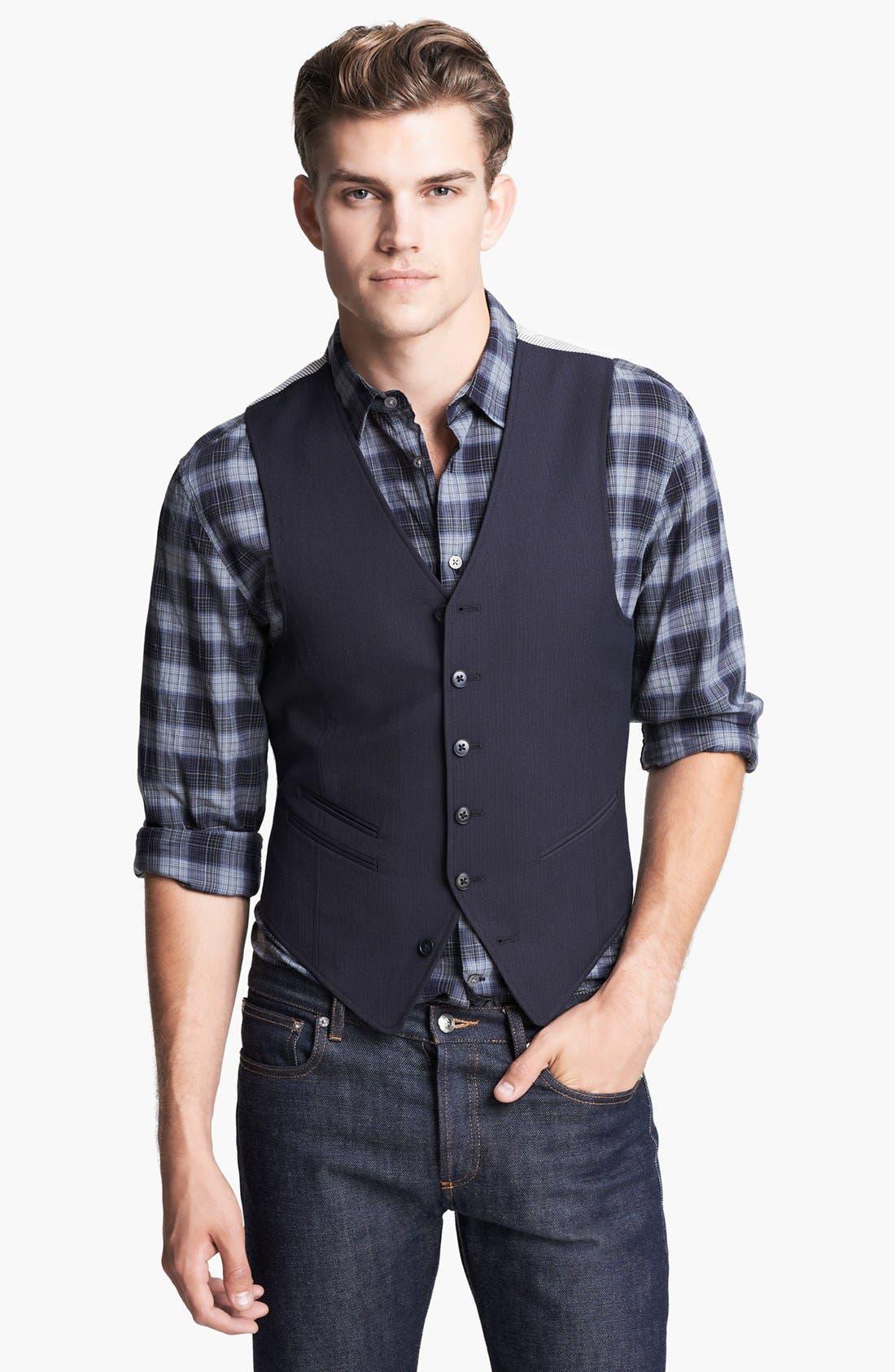 Alternate Image 1 Selected - John Varvatos Star USA Tailored Vest