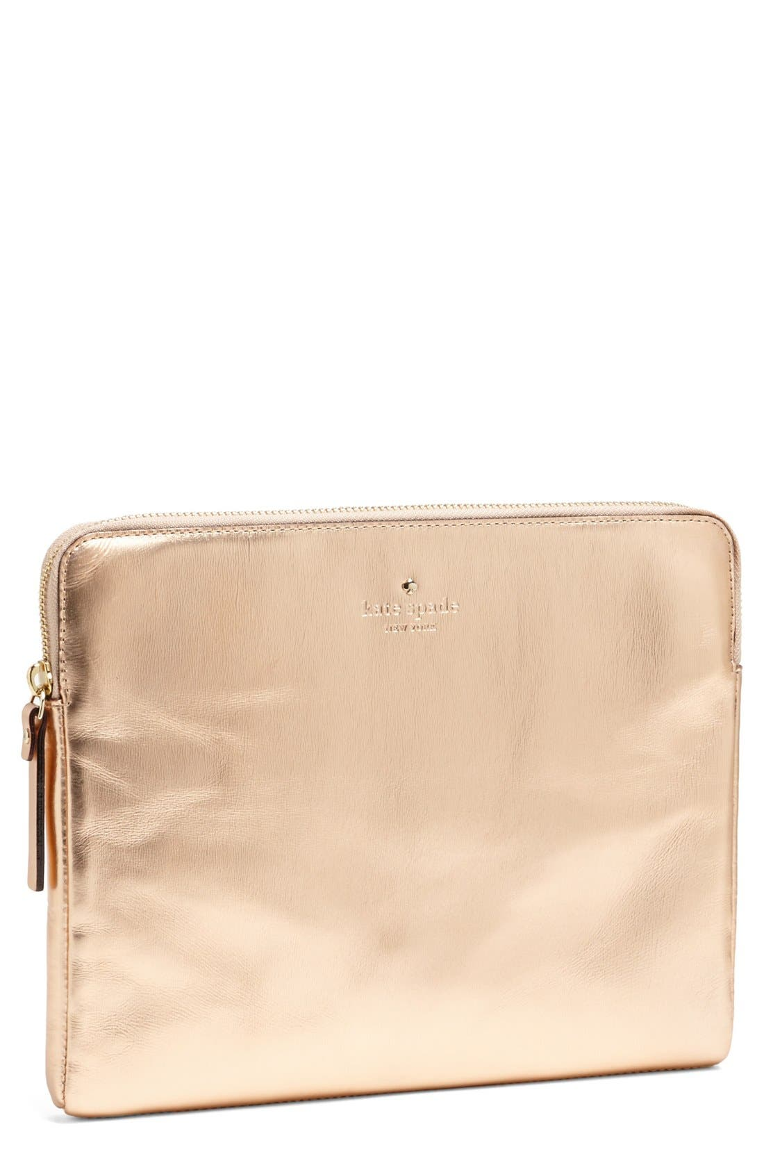 'be dazzling' iPad sleeve,                         Main,                         color, Rose Gold
