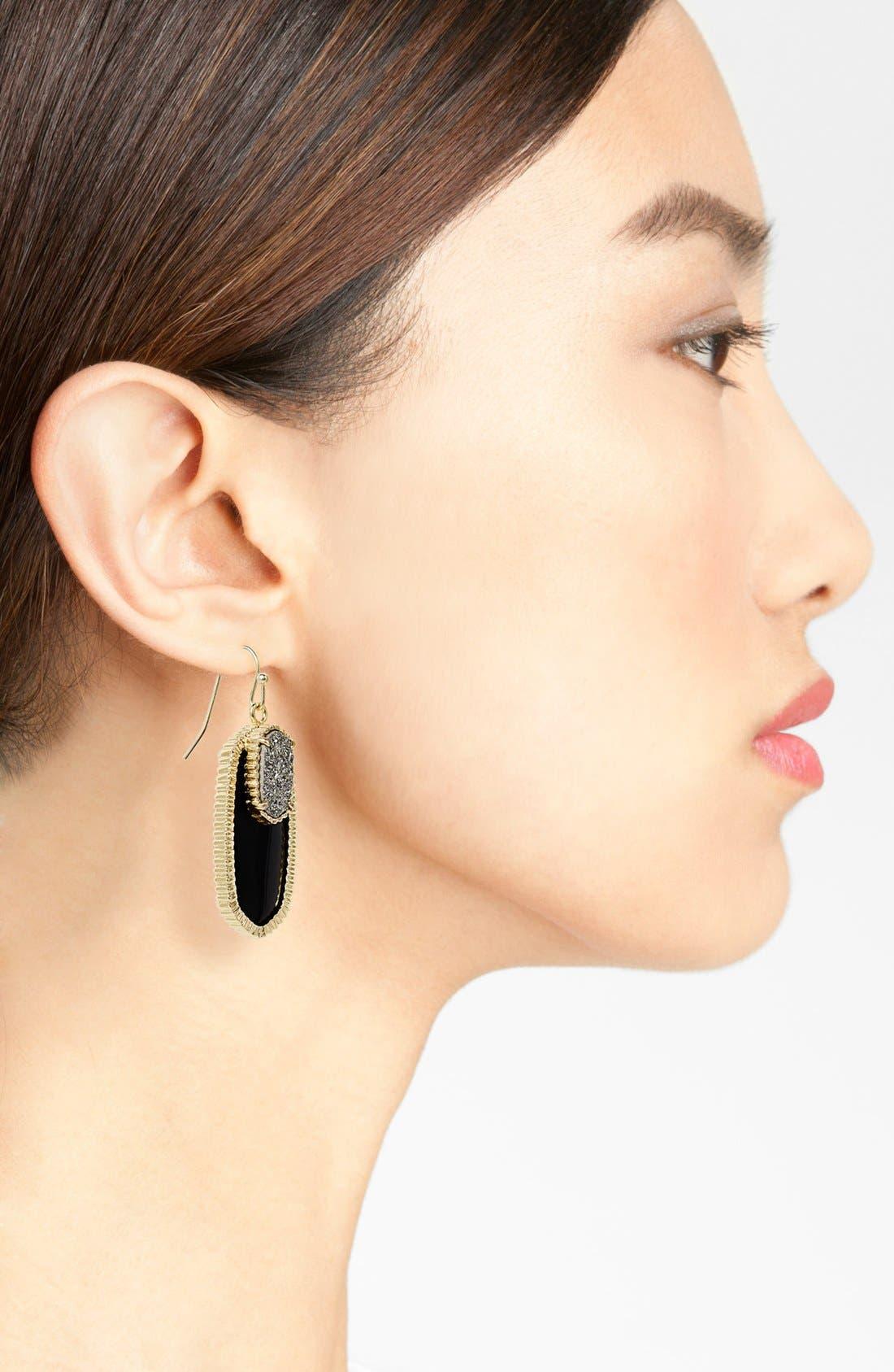 Alternate Image 2  - Kendra Scott 'Dayton' Oval Stone & Drusy Drop Earrings