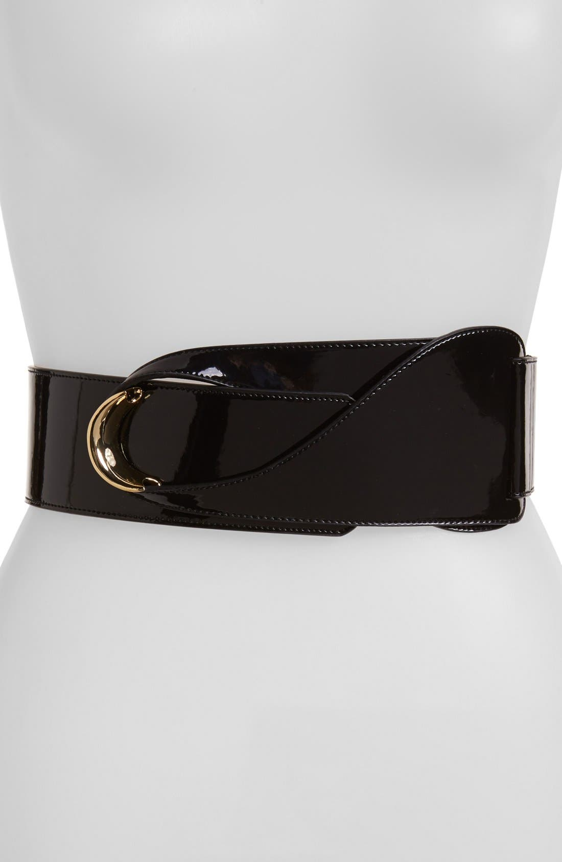 Alternate Image 1 Selected - Lauren Ralph Lauren Patent Leather Belt