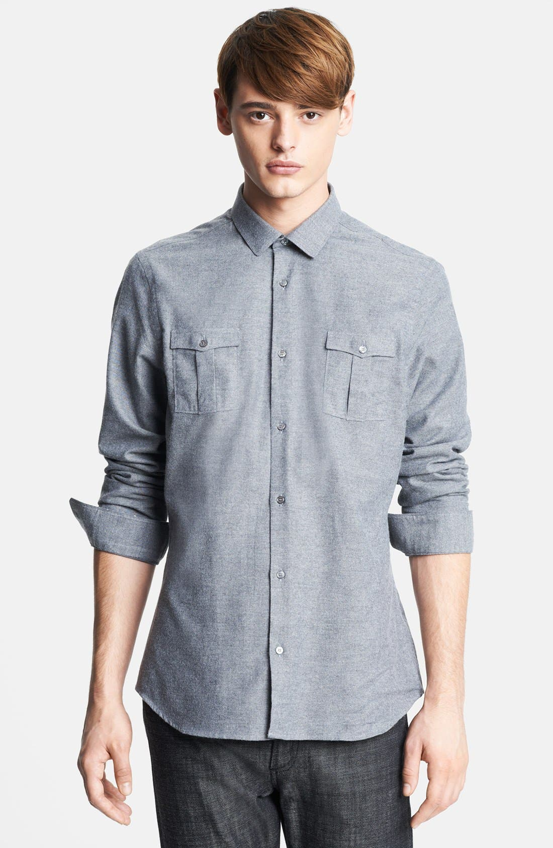 Alternate Image 1 Selected - Burberry London Oxford Military Shirt