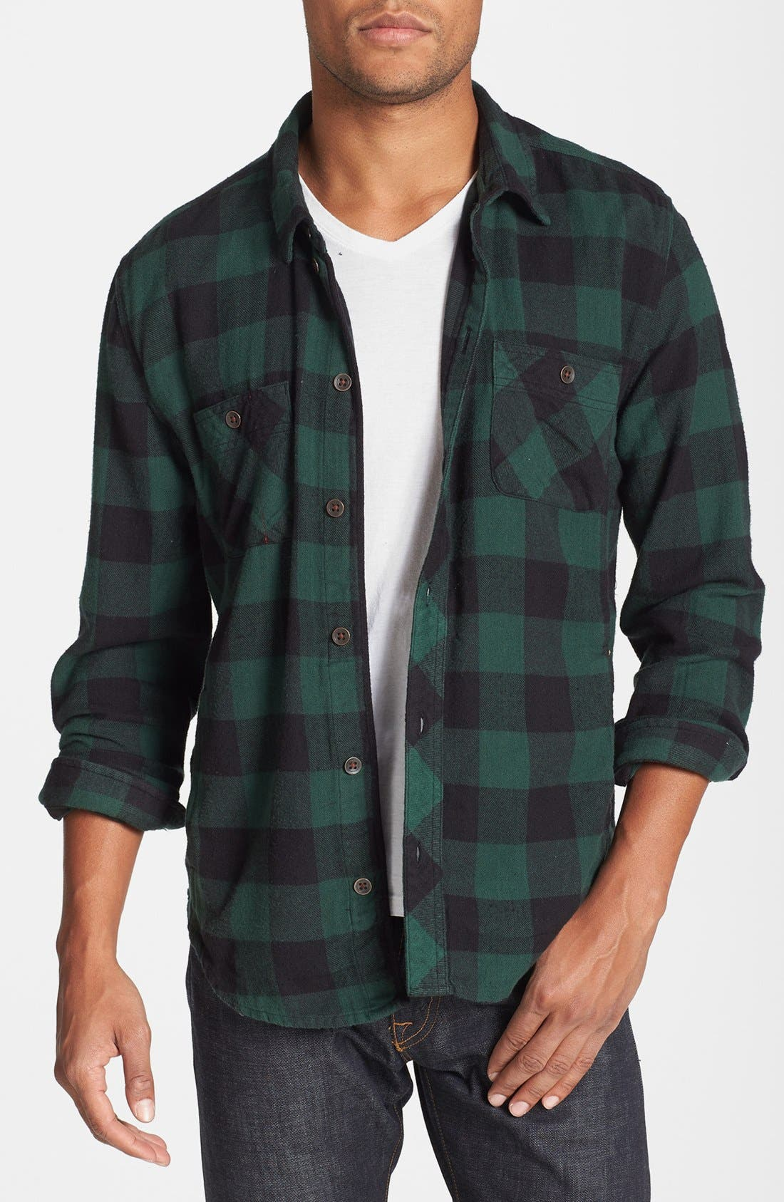 Alternate Image 1 Selected - Alternative 'Timbers Up' Check Flannel Shirt