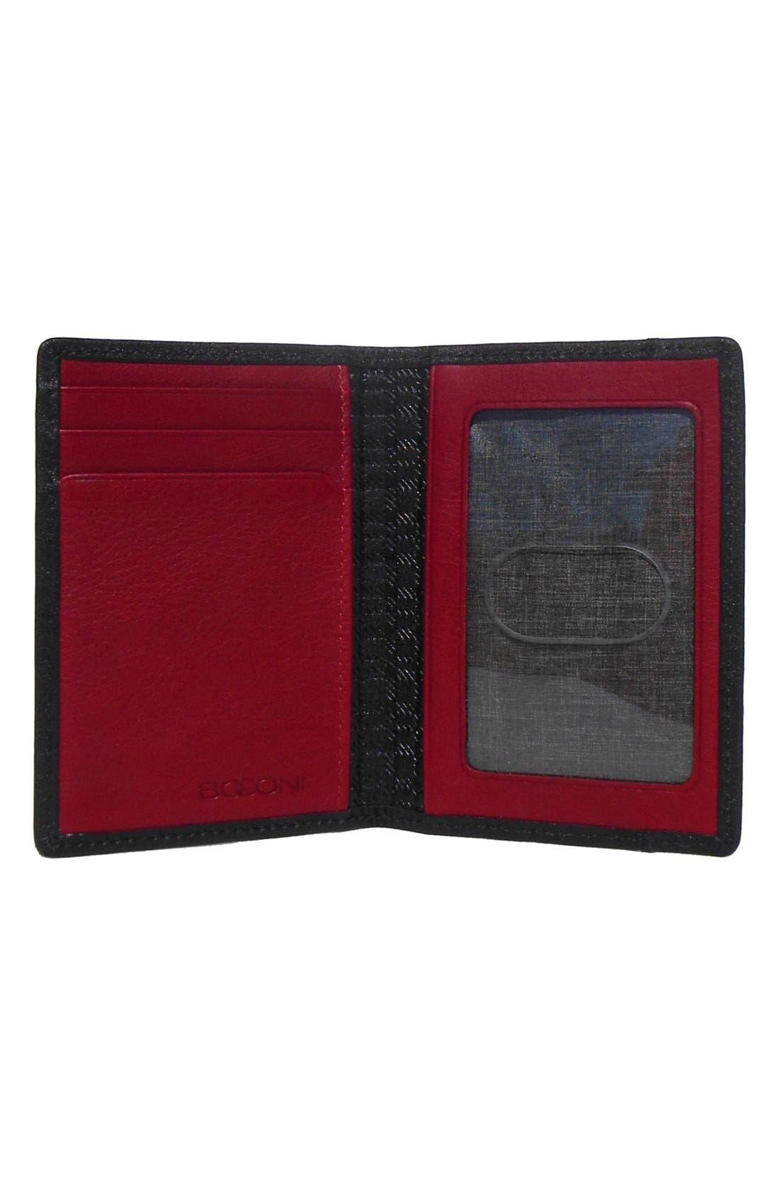 Alternate Image 2  - Boconi 'George' RFID Blocker Slim Leather Card Case