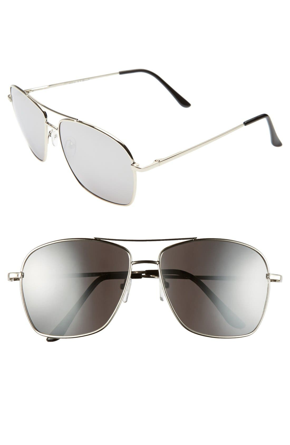 Main Image - A.J. Morgan 'Mission' Aviator Sunglasses