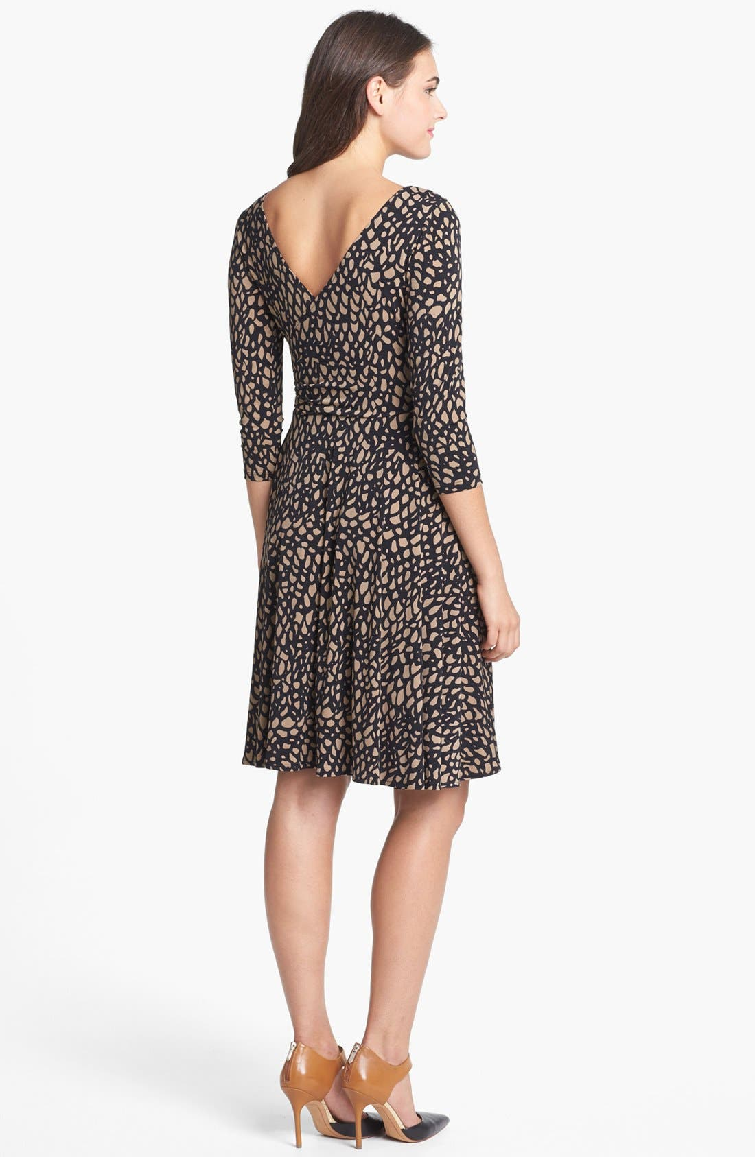 Alternate Image 2  - Maggy London Print Jersey Fit & Flare Dress