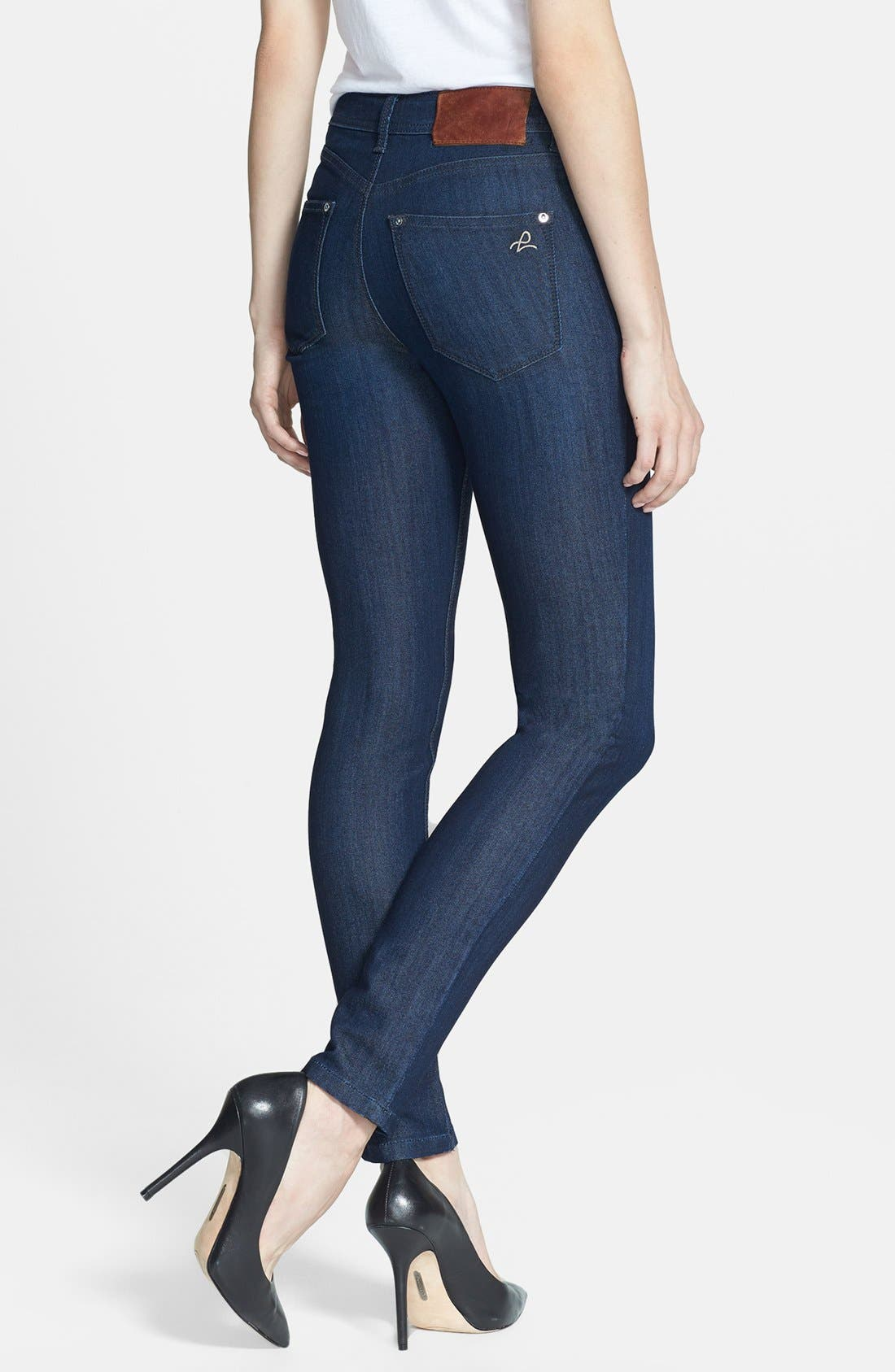 Alternate Image 2  - DL1961 'Nina' High Rise Skinny Jeans (Milan)