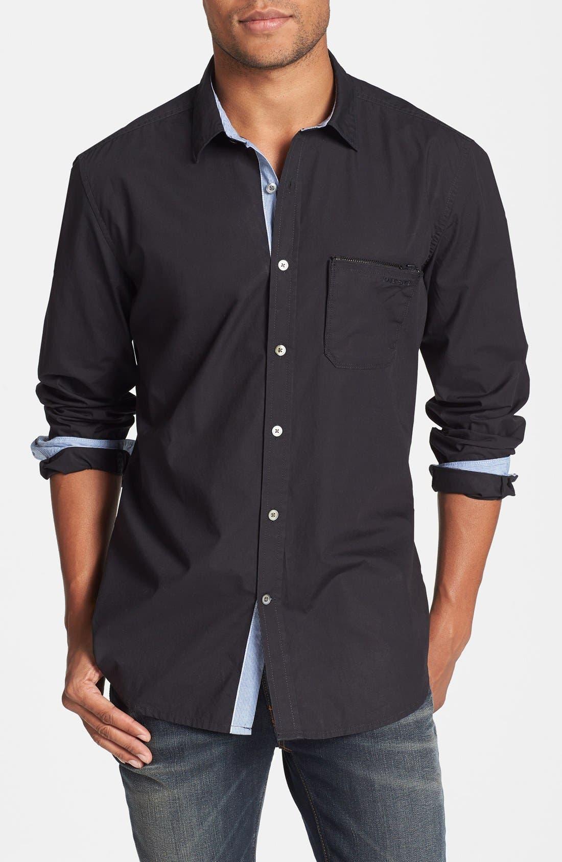 Alternate Image 1 Selected - DIESEL® 'Mirtilla' Long Sleeve Sport Shirt
