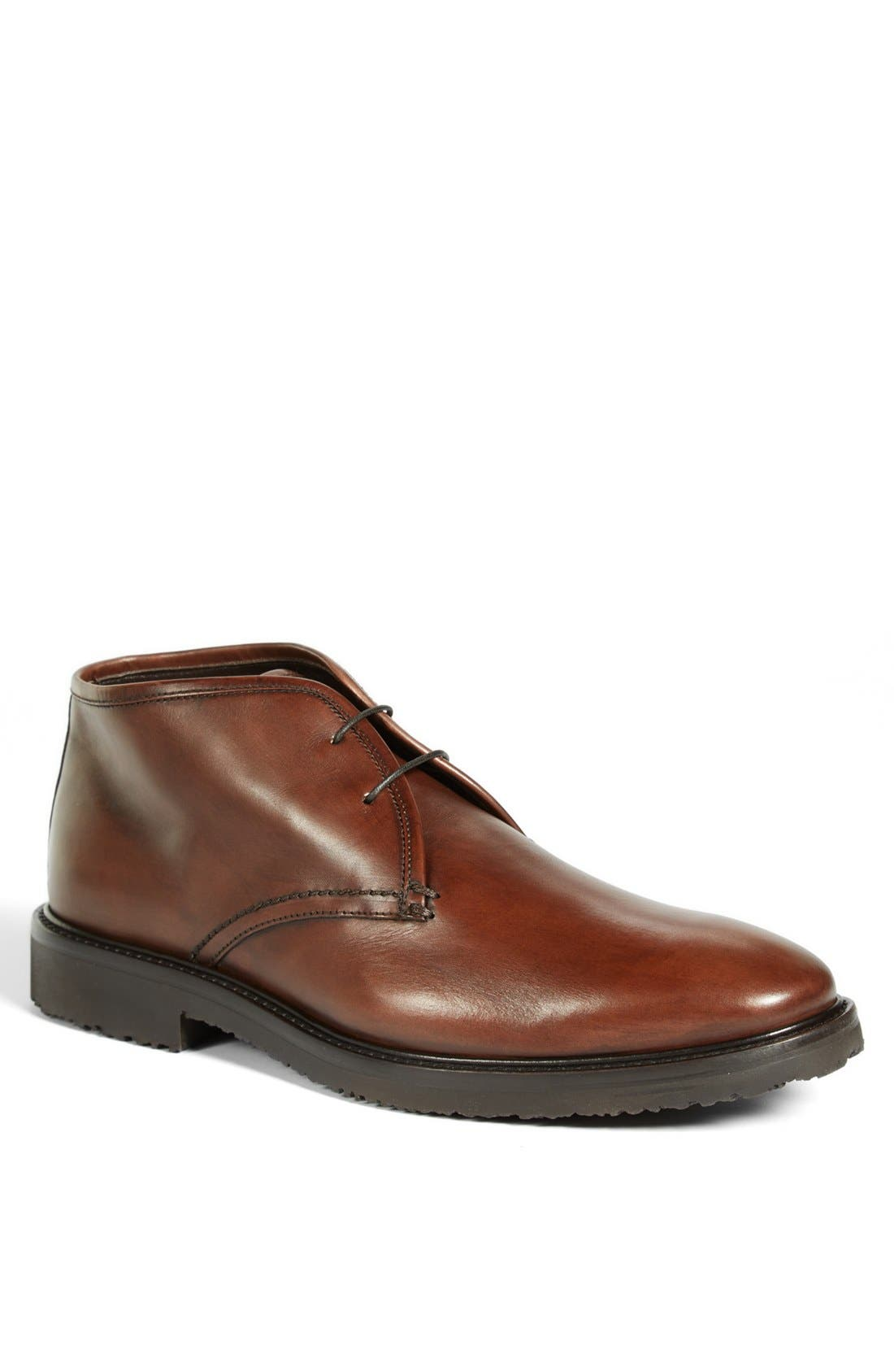 Alternate Image 1 Selected - Ermenegildo Zegna Leather Chukka Boot