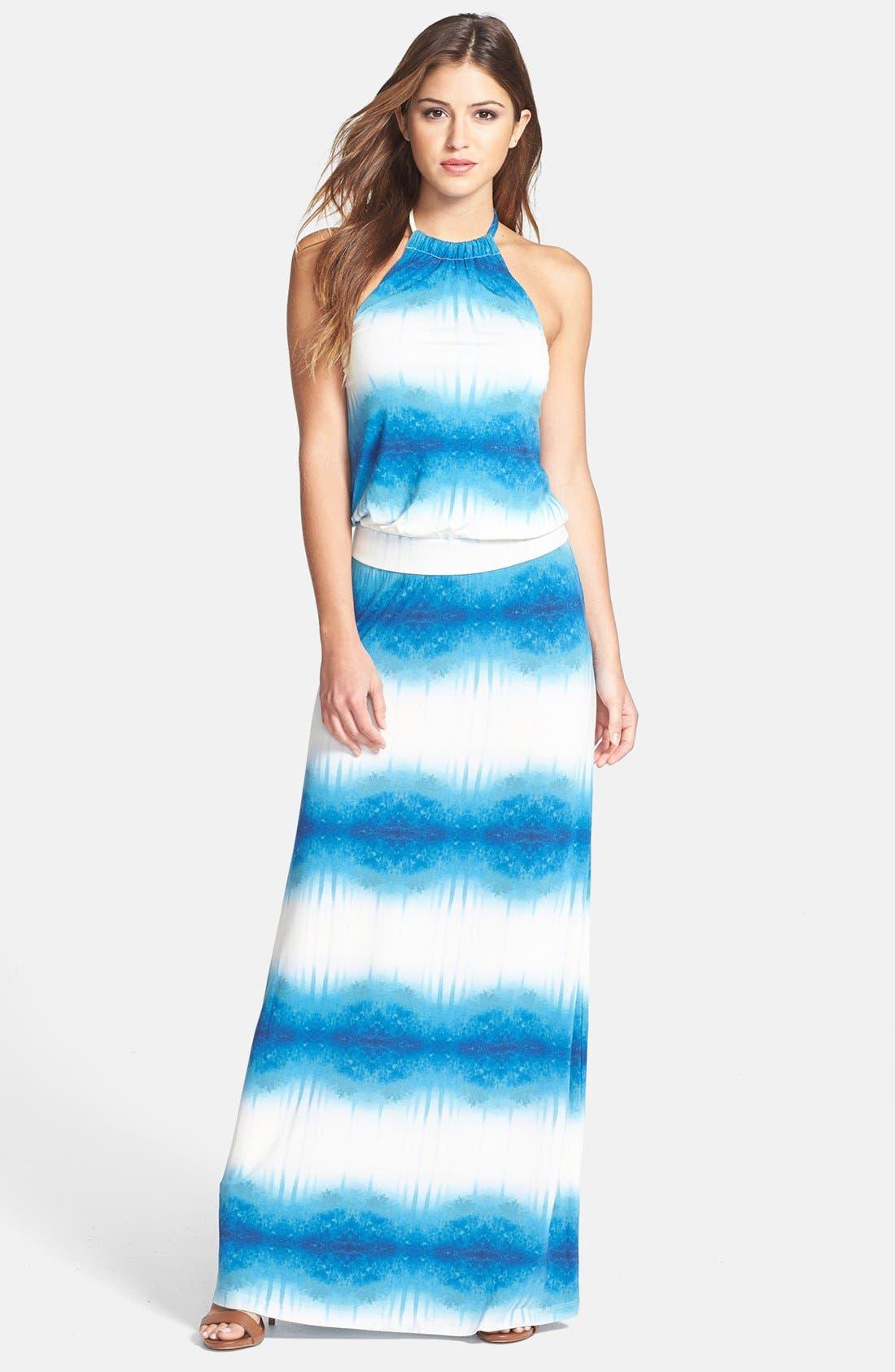 Alternate Image 1 Selected - Tart Print Jersey Halter Maxi Dress
