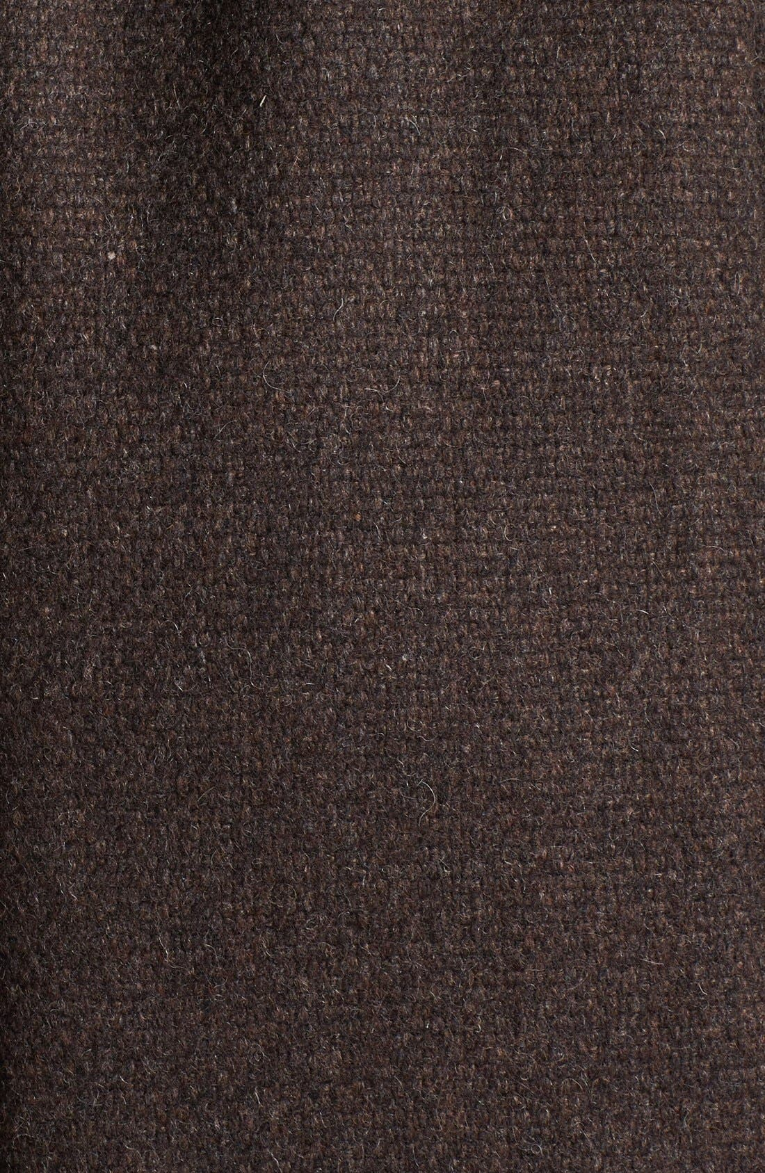 Alternate Image 3  - Ellen Tracy Genuine Fox Fur Trim Hooded Coat (Petite) (Online Only)