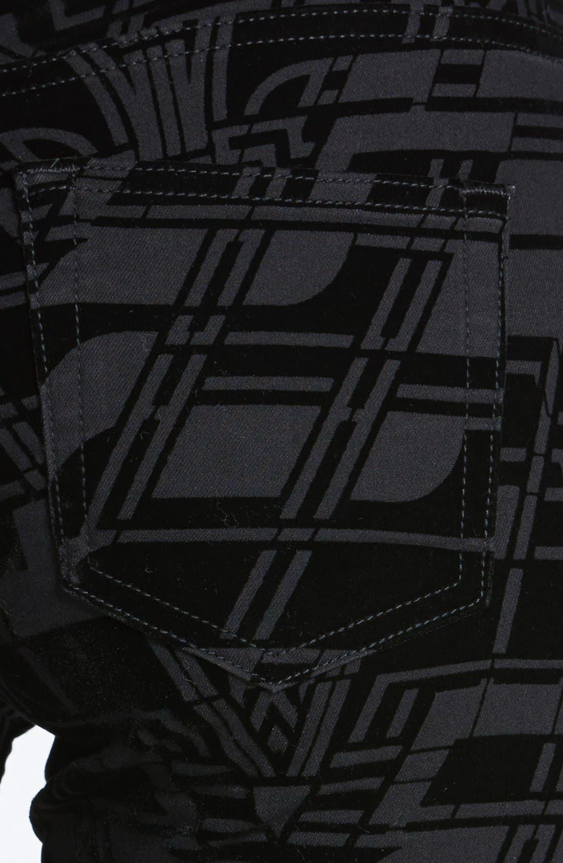 Alternate Image 3  - Ted Baker London 'Dehme' Velvet Jeans (Black)