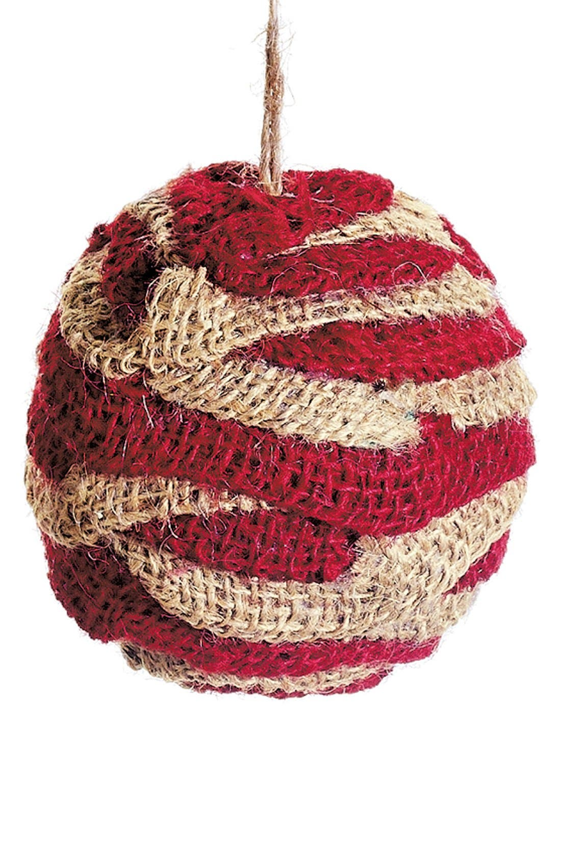 Alternate Image 1 Selected - ALLSTATE Burlap Ball Ornament, Small