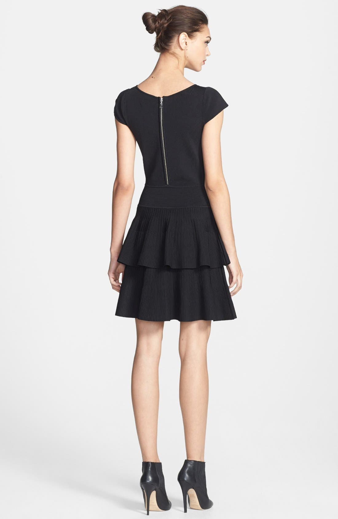 Alternate Image 2  - Milly Tiered Fit & Flare Stretch Dress