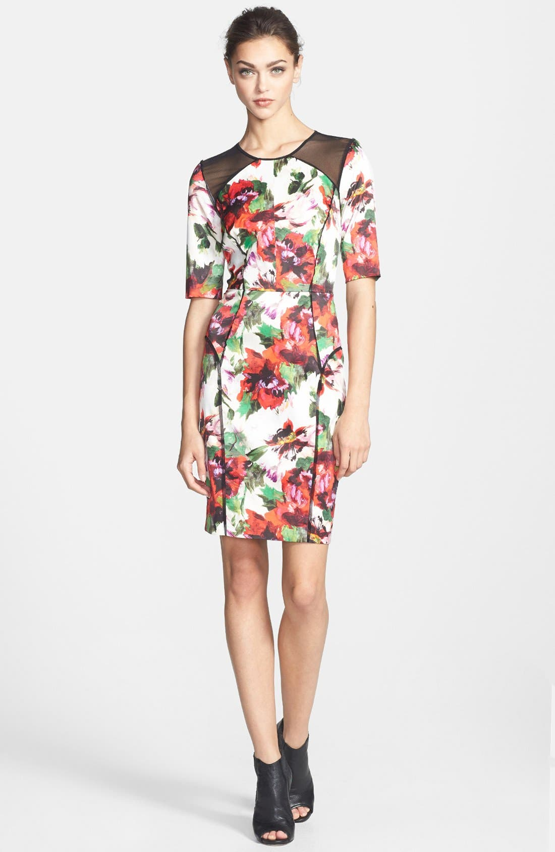 Alternate Image 1 Selected - Milly Print Stretch Sheath Dress