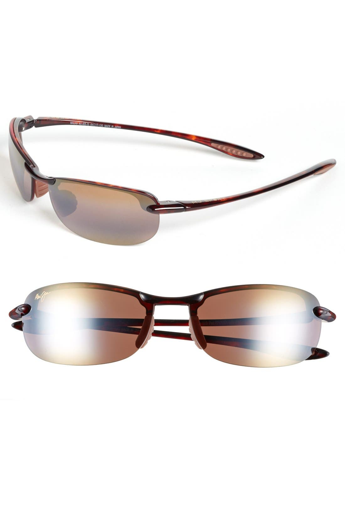'Makaha - PolarizedPlus<sup>®</sup>2' 63mm Sunglasses,                         Main,                         color, Tortoise