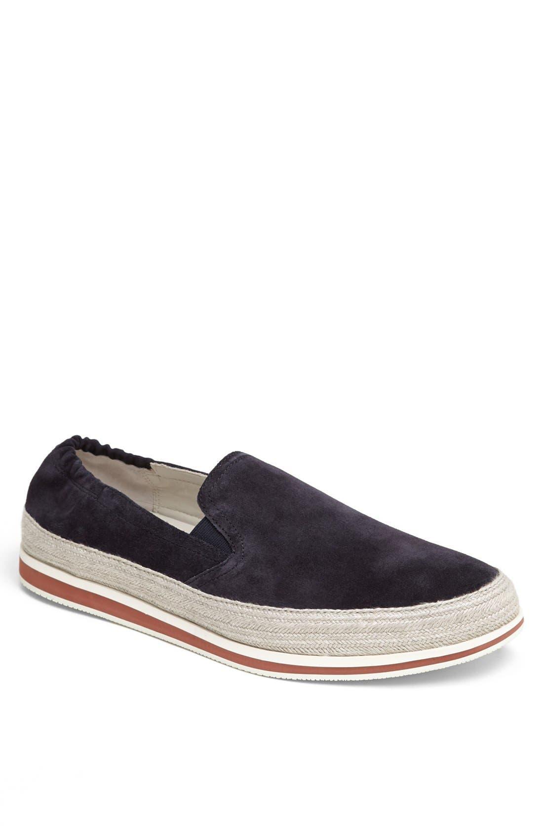 Espadrille Sneaker,                             Main thumbnail 1, color,                             Blue Suede