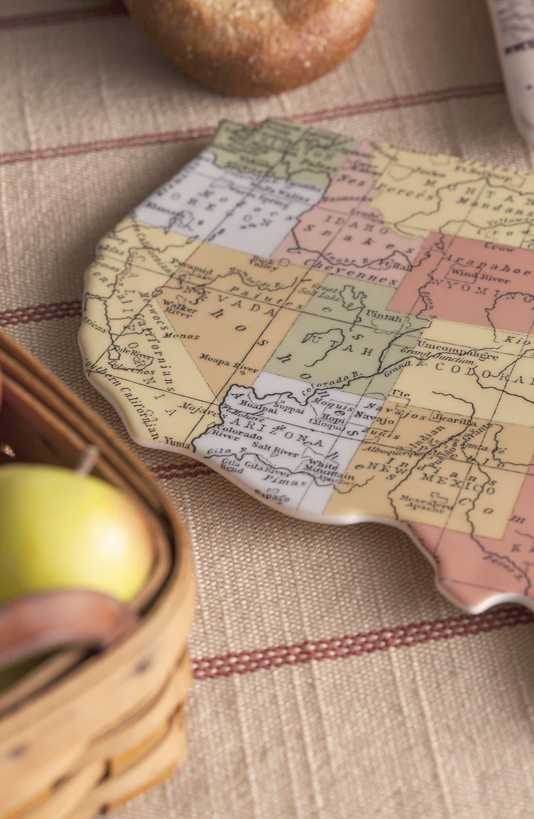 Alternate Image 7  - Rosanna 'Cartography - USA' Porcelain Tray
