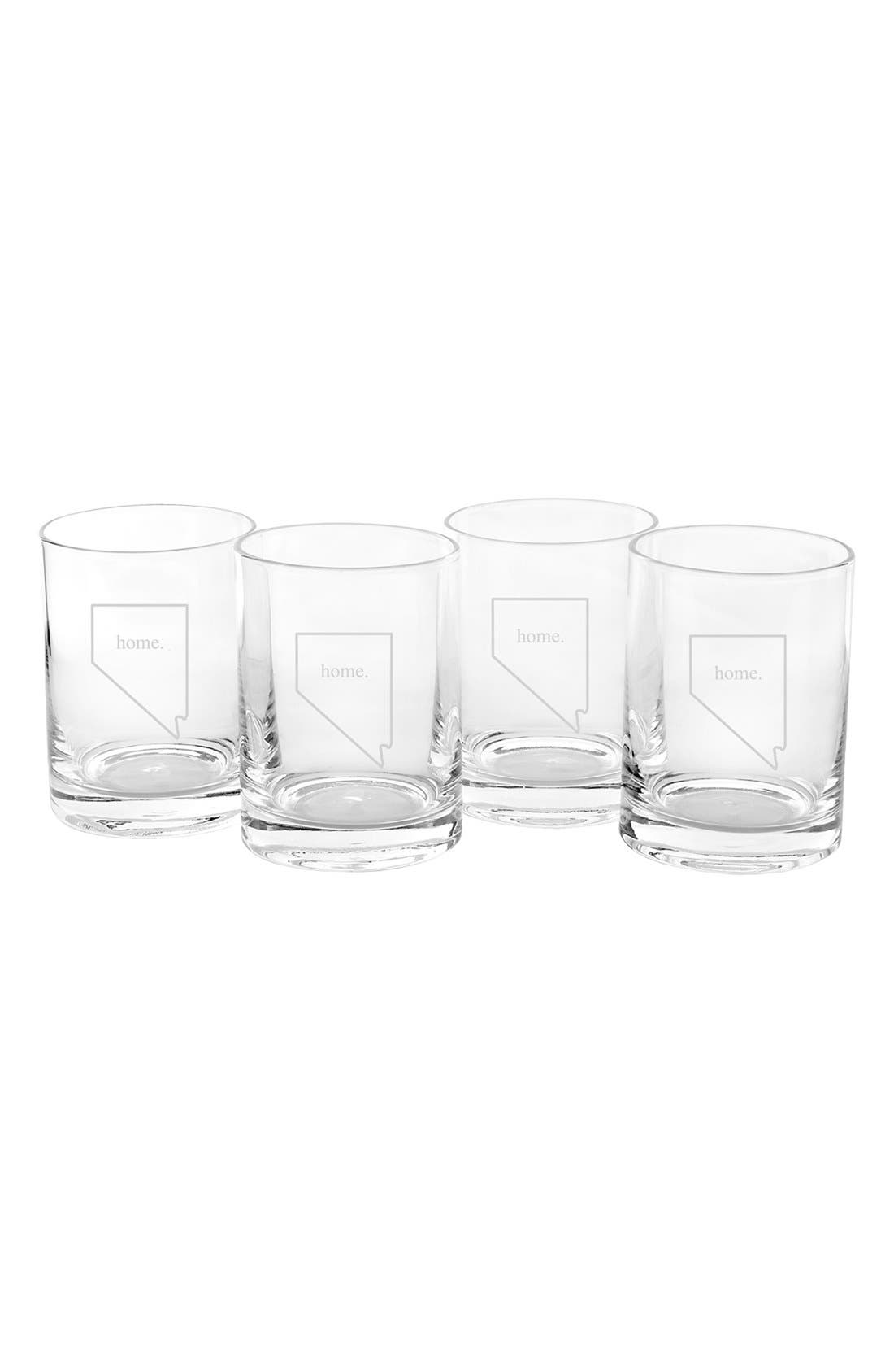 Alternate Image 1 Selected - Cathy's Concepts 'Home State' Glasses (Set of 4)