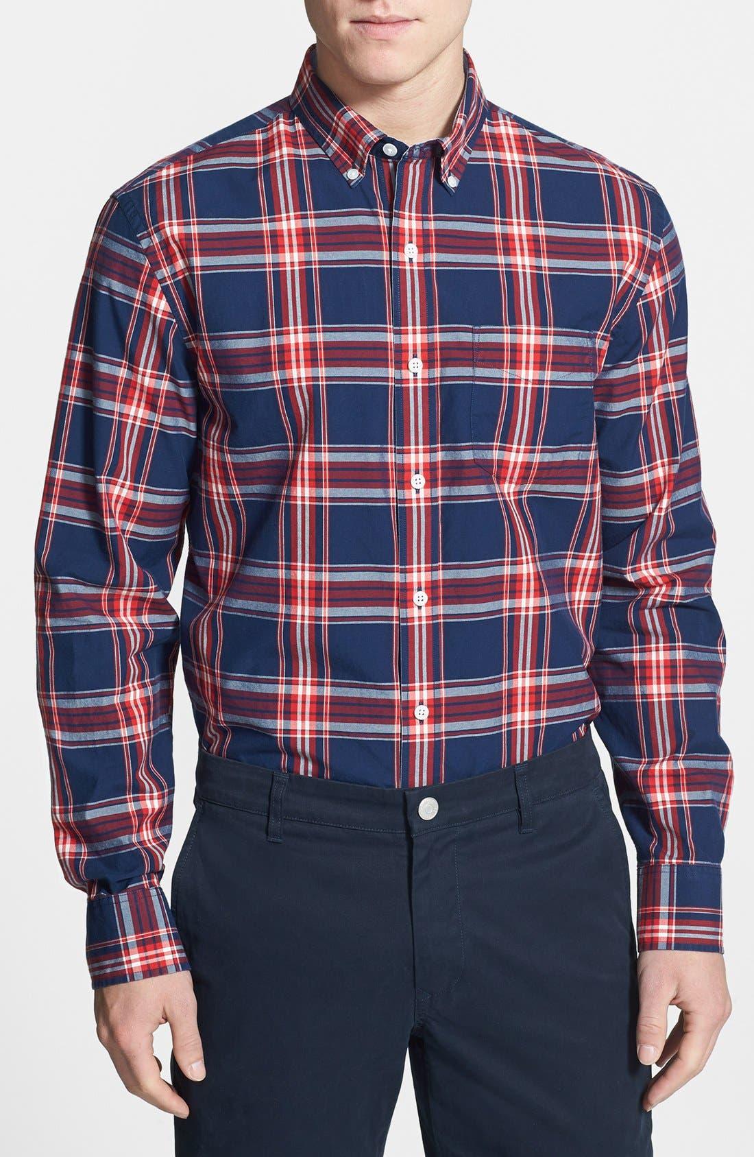 Main Image - Bonobos 'Dalton' Standard Fit Plaid Shirt