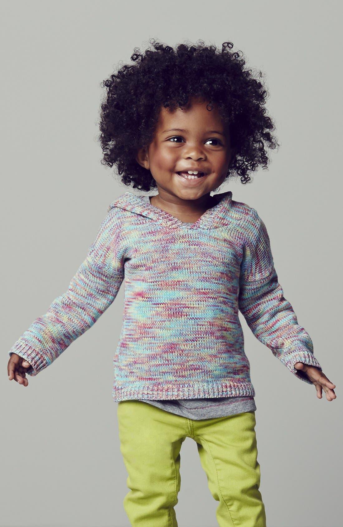 Alternate Image 1 Selected - Peek Hoodie & Jeans (Baby Girls)