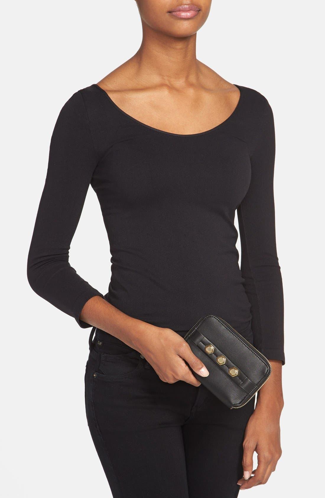 Alternate Image 2  - Danielle Nicole 'Tina' Faux Leather Zip Around Wallet