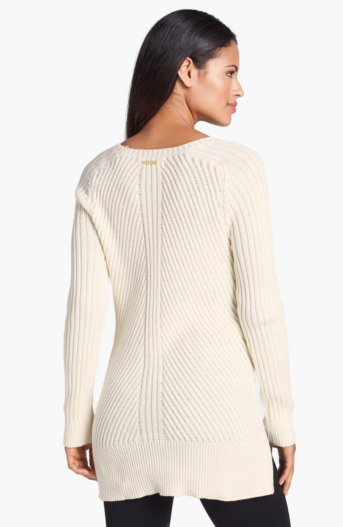 Alternate Image 2  - MICHAEL Michael Kors Studded Trim Ribbed Sweater