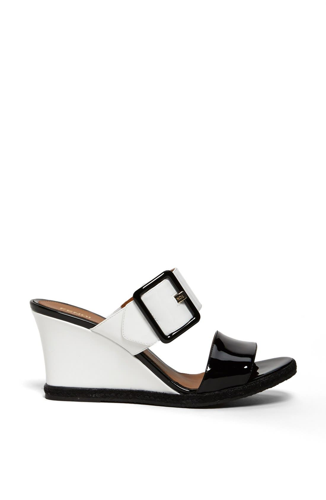 Alternate Image 4  - Fendi 'Vernis' Wedge Sandal
