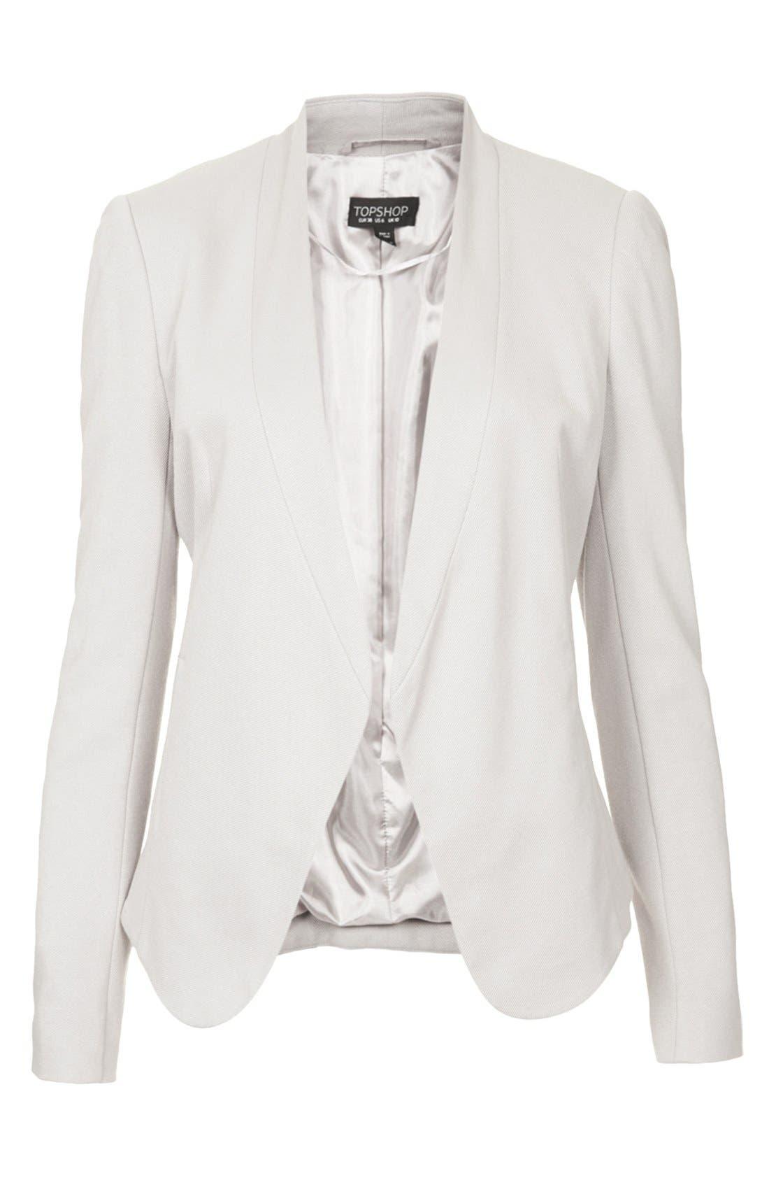 Alternate Image 3  - Topshop 'Darcy' Textured Blazer