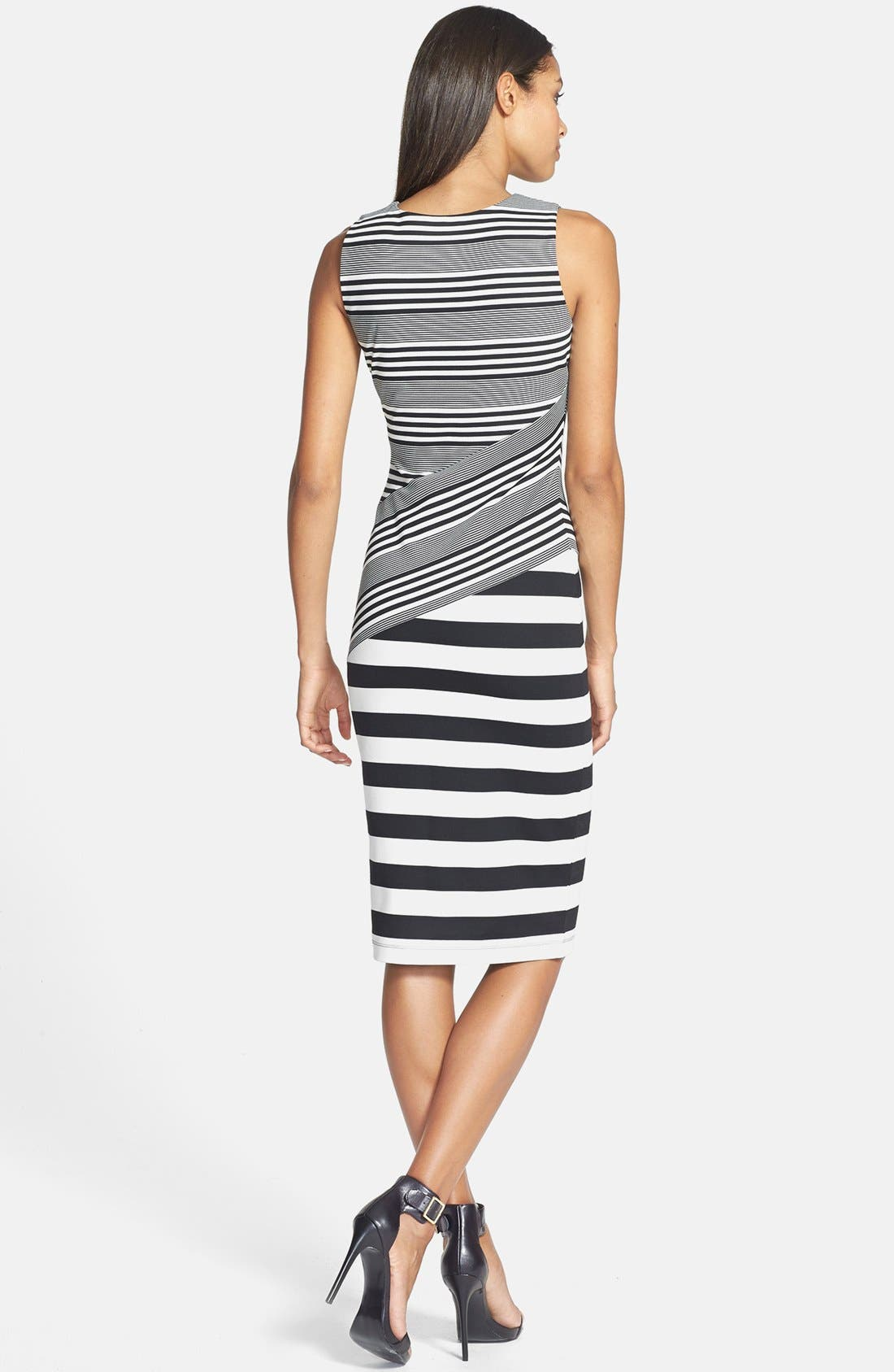 Alternate Image 3  - Felicity & Coco Stripe Ponte Midi Dress (Nordstrom Exclusive)