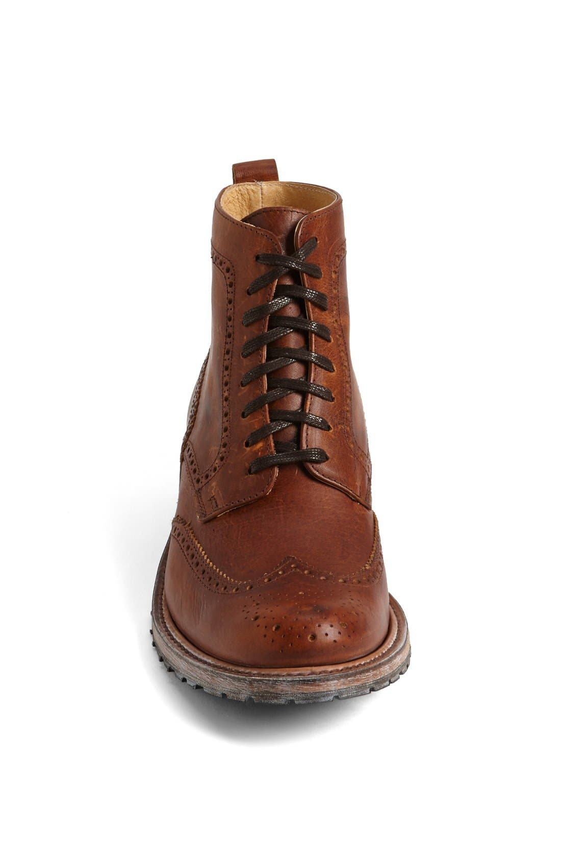 'Skye' Wingtip Boot,                             Alternate thumbnail 3, color,                             Tan