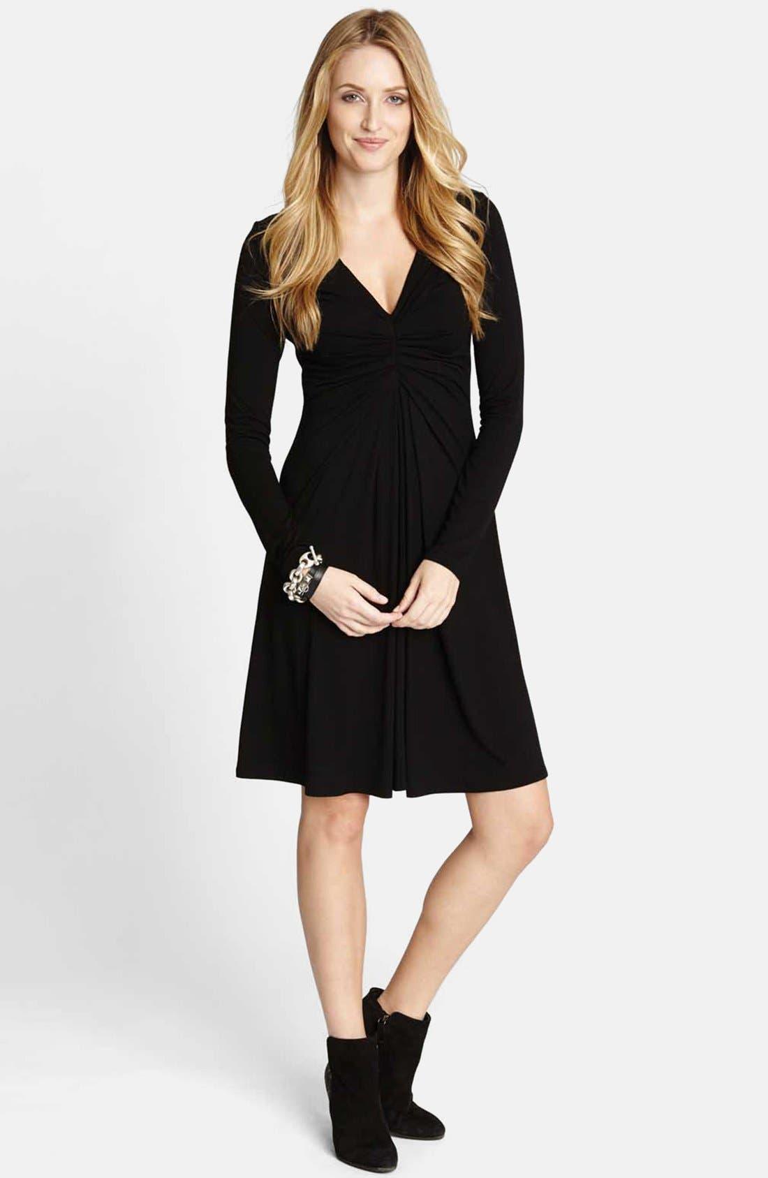 Main Image - Karen Kane 'Elizabeth' Stretch Fit & Flare Dress