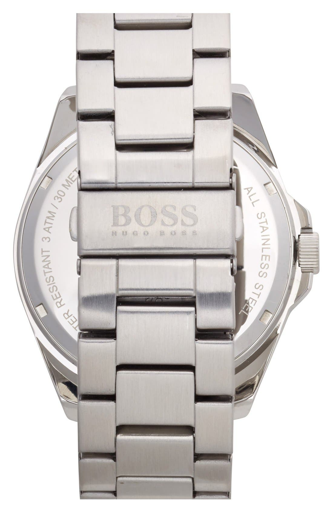 Alternate Image 2  - BOSS Orange 'Big Time' Multifunction Bracelet Watch, 48mm