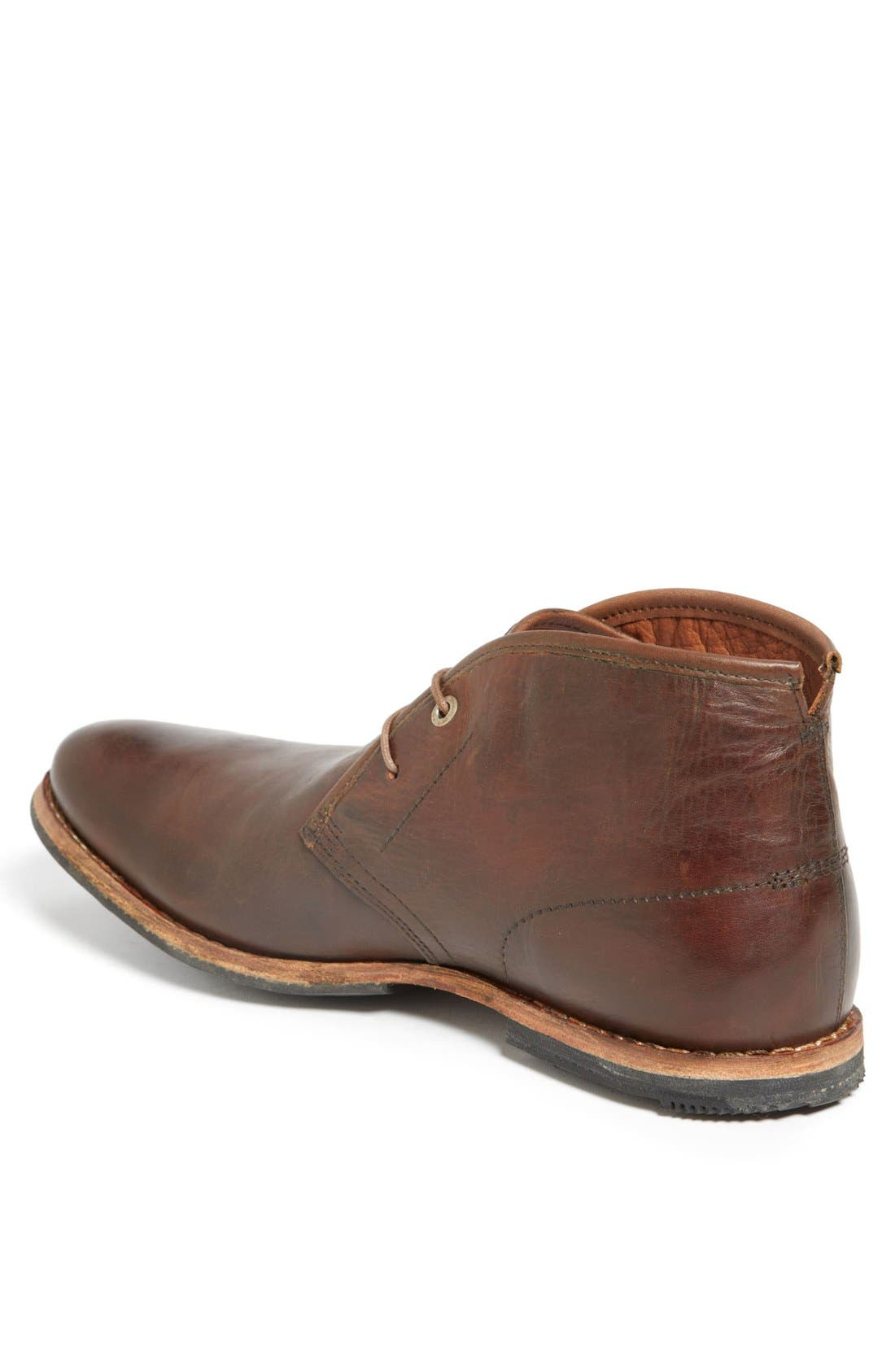 Wodehouse Lost History Chukka Boot,                             Alternate thumbnail 2, color,                             Burnished Dark Brown Leather